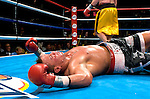 Vinny Maddalone is knocked out by   Brian Minto during their 10 rounds Heavyweight fight at the Taj Mahal Casino in Atlantic City, NJ on  07.23.04. Minto won by KO in the 10th round