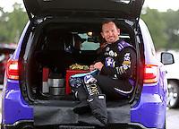 Aug 20, 2016; Brainerd, MN, USA; NHRA funny car driver Jack Beckman during qualifying for the Lucas Oil Nationals at Brainerd International Raceway. Mandatory Credit: Mark J. Rebilas-USA TODAY Sports