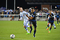 San Jose, CA - Saturday, March 04, 2017: Danny Hoesen during a Major League Soccer (MLS) match between the San Jose Earthquakes and the Montreal Impact at Avaya Stadium.