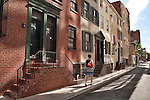 Brick town houses in downtown Philadelphia
