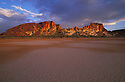 Australia, Northern Territory; Rainbow Valley at sunset