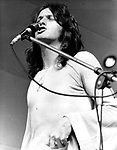 Yes 1972 Jon Anderson at Crystal Palace Garden Party.&copy; Chris Walter.