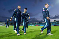 Picture by Allan McKenzie/SWpix.com - 16/05/2017 - Cricket - Royal London One-Day Cup - Yorkshire County Cricket Club v Leicestershire County Cricket Club - Headingley Cricket Ground, Leeds, England - Yorkshire's Jack Leaning, Adam Lyth & Gary Ballance leave the field to applause from the fans.