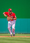 14 April 2013: Washington Nationals shortstop Ian Desmond in action against the Atlanta Braves at Nationals Park in Washington, DC. The Braves shut out the Nationals 9-0 to sweep their 3-game series. Mandatory Credit: Ed Wolfstein Photo *** RAW (NEF) Image File Available ***