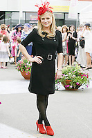 5/8/2010.Blossom Hill Ladies Day. Expose Presenter Karren Costner is pictured at the Blossom Hill Ladies Day at the Fáilte Ireland Dublin Horse Show at RDS. Picture James Horan/Collins Photos