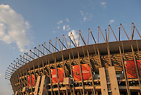 A general view of the Royal Bafokeng Stadium prior to the game between England and USA. USA vs England in the 2010 FIFA World Cup in Rustenburg, South Africa on June 12, 2010.