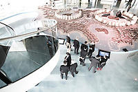 Qatar - Doha -  The Pearl Qatar Sales Center. The Pearl has the most exclusive stores of town, including, Giorgio Armani and Hermes.