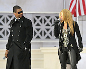 "Washington, DC - January 18, 2009 -- Usher, left, and Shakira, right, perform at the ""Today: We are One - The Obama Inaugural Celebration at the Lincoln Memorial"" in Washington, D.C. on Sunday, January 18, 2009..Credit: Ron Sachs / CNP.(RESTRICTION: NO New York or New Jersey Newspapers or newspapers within a 75 mile radius of New York City)"