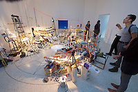 55th Art Biennale in Venice - The Encyclopedic Palace (Il Palazzo Enciclopedico).<br /> Giardini. U.S.A. Pavilion.<br /> Sarah Sze (U.S.A.), &quot;Triple Point&quot;, 2013.