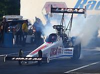 Jun 10, 2016; Englishtown, NJ, USA; NHRA top fuel driver Richie Crampton during qualifying for the Summernationals at Old Bridge Township Raceway Park. Mandatory Credit: Mark J. Rebilas-USA TODAY Sports
