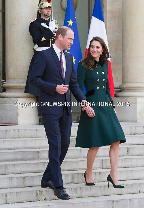 KATE Middleton & Prince William Visit Elysee Palais, Paris