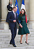 KATE Middleton & Prince William Visit Elysee Palais, Paris