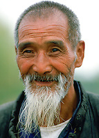 Happy old man in Xian, China