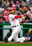 31 March 2011: Washington Nationals outfielder Jayson Werth at bat against the Atlanta Braves at Nationals Park in Washington, District of Columbia. The Braves shut out the Nationals 2-0 on Opening Day to start the 2011 Major League Baseball season. Mandatory Credit: Ed Wolfstein Photo