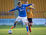 St Johnstone v Partick Thistle....17.01.15  SPFL<br /> David Wotherspoon holds off Stuart Bannigan<br /> Picture by Graeme Hart.<br /> Copyright Perthshire Picture Agency<br /> Tel: 01738 623350  Mobile: 07990 594431