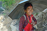 A woman in Adamtar, a village in the Dhading District of Nepal.