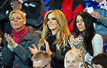 Hearts v St Johnstone...14.02.12.. Scottish Cup 5th Round Replay.Maria Fowler girlfriend of St Johnstone's Lee Croft in the crowd.Picture by Graeme Hart..Copyright Perthshire Picture Agency.Tel: 01738 623350  Mobile: 07990 594431