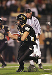 18 November 2006: Wake Forest's Riley Skinner rushes the ball. The Virginia Tech Hokies defeated the Wake Forest University Demon Deacons 27-6 at Groves Stadium in Winston-Salem, North Carolina in an Atlantic Coast Conference NCAA Division I College Football game.
