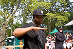 "DJ Scratch of EPMD Rockin the JMJ tatto At Rakim, EPMD and FunkMaster Flex ""Salute to Hip-Hop"" Celebration of the 25th Anniversary of Rakim's Iconic Album Paid in Full at Central Park SummerStage, NY  8/21/11"