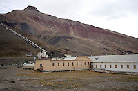 Pyramiden abandoned Russian mining settlement on Spitzbergen, Arctic Norway