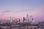 A recent 2012 photo of the Charlotte skyline, with the new Duke Energy Building. The Charlotte skyline has grown a lot over the last few years, and photos are outdated quickly.