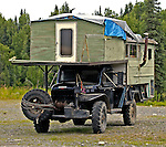 Alaskan mobile home.  On Petersville Road to The Forks Roadhouse.    Bob Gathany photo.