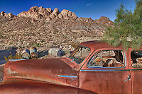 Rusted Chevrolet Fleetline - Eldorado Canyon - Nelson NV - HDR