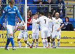 St Johnstone v Inverness Caley Thistle...08.08.15...SPFL..McDiarmid Park, Perth.<br /> Ryan Christie celebrates his goal with Dani Lopez<br /> Picture by Graeme Hart.<br /> Copyright Perthshire Picture Agency<br /> Tel: 01738 623350  Mobile: 07990 594431