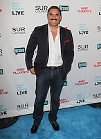 Reza Farahan.Bravo's Andy Cohen's Book Release Party For &quot;Most Talkative: Stories From The Front Lines Of Pop Held at SUR Lounge, West Hollywood, California, USA..May 14th, 2012.full length suit jacket white shirt jeans denim moustache mustache facial hair black .CAP/ADM/KB.&copy;Kevan Brooks/AdMedia/Capital Pictures.