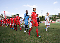 Panama and the USA take the field during the group stage of the CONCACAF Men's Under 17 Championship at Jarrett Park in Montego Bay, Jamaica. The USA defeated Panama, 1-0.