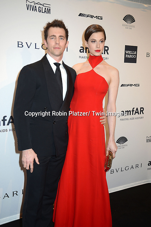 Elettra Wiedman and James Marshall attends the amfAR New York Gala on February 5, 2014 at Cipriani Wall Street in New York City.
