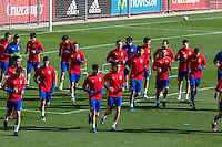 Training of the spanish football team in the city of football of Las Rozas