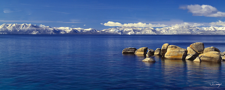 Lake Tahoe Scenic Winter Morning Panorama