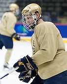 Ryan Thang (Notre Dame - 9) - The 2008 Frozen Four participants practiced on Wednesday, April 9, 2008, at the Pepsi Center in Denver, Colorado.