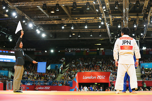 Masashi Nishiyama (JPN), .AUGUST 1, 2012 - Judo : .Men's -90kg Repecharge Contest .at ExCeL .during the London 2012 Olympic Games in London, UK. .(Photo by Daiju Kitamura/AFLO SPORT) [1045].