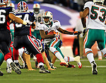 7 December 2008: Miami Dolphins' wide receiver Ted Ginn Jr. in action during the first regular season NFL game ever played in Canada. The Dolphins defeated the Buffalo Bills 16-3 at the Rogers Centre in Toronto, Ontario. ..Mandatory Photo Credit: Ed Wolfstein Photo