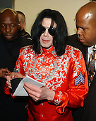 Recording Superstar Michael Jackson signs autographs on Capitol Hill in Washington, D.C. on March 31, 2004 after meeting members of Congress and diplomats to discuss the problem of AIDS in Africa.  His meeting was to highlight his concerns about the disease as well as the .Credit: Ron Sachs / CNP