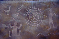 The Desert View Watchtower in the Grand Canyon features murals by Hopi artist Frank Kabotie.
