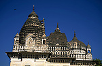 Asia, India, Khajuraho. Temples reflecting three architectural styles: Hindu, Buddhist, Islamic.