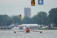Amsterdam, NETHERLANDS, USA BW2X,  2011 FISA U23 World Rowing Championships, Wednesday, 20/07/2011 [Mandatory credit:  Intersport Images]