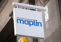 Maplin Electronic Shop Sign - Aug 2013.
