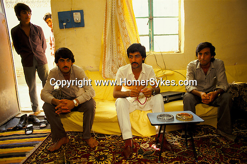 Marsh Arabs. Southern Iraq. Circa 1985. Marsh Arab men in wealthy family home in Baghdad.
