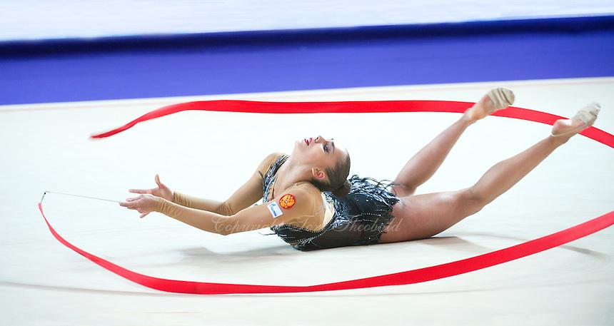 RITA MAMUN of Russia performs with ribbon at 2016 European Championships at Holon, Israel on June 18, 2016.