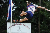 FIERLJEPPEN: GRIJPSKERK: 17-08-2013, 1e Klas wedstrijd, Oane Galama, ©foto Martin de Jong