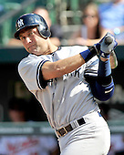 New York Yankees designated hitter Derek Jeter (2) grounds out softly  to end the eighth inning against the Baltimore Orioles at Oriole Park at Camden Yards in Baltimore, Maryland in the first game of a doubleheader on Sunday, August 28, 2011.  The Orioles won the game 2 - 0..Credit: Ron Sachs / CNP.(RESTRICTION: NO New York or New Jersey Newspapers or newspapers within a 75 mile radius of New York City)