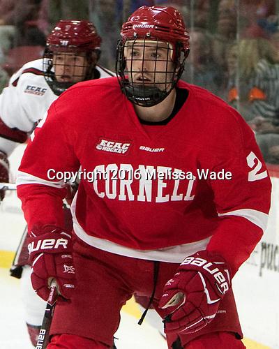Brendan Smith (Cornell - 2) - The Harvard University Crimson defeated the visiting Cornell University Big Red on Saturday, November 5, 2016, at the Bright-Landry Hockey Center in Boston, Massachusetts.