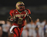 Lafayette High's D.K. Buford (2) catches a touchdown pass at William L. Buford Stadium in Oxford, Miss. on Friday, September 2, 2011. Lafayette won 40-12