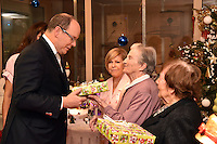 Prince Albert II of Monaco hands out Christmas gifts at Quietudine nursing home - Monaco