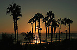 The sunsets on Pier View South Beach in Oceanside, California on an August evening.