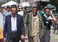 Joe Mantegna who plays David Rossi on A&E's Criminal Minds films a seen along the Santa Monica Boardwalk on Tuesday, September 18, 2012.